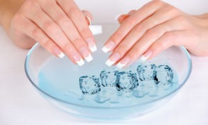 Bowl of water and nails