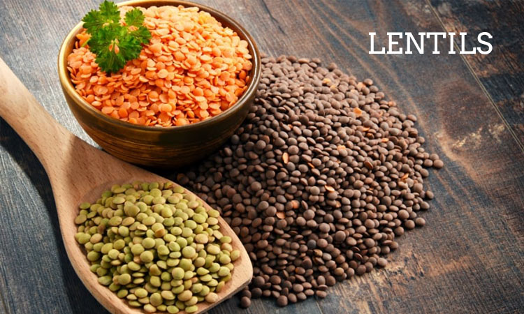 different types of lentils