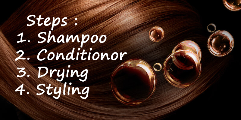 steps to follow for hair care