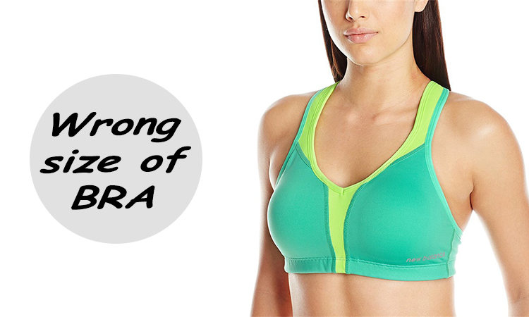 Wrong size of bra