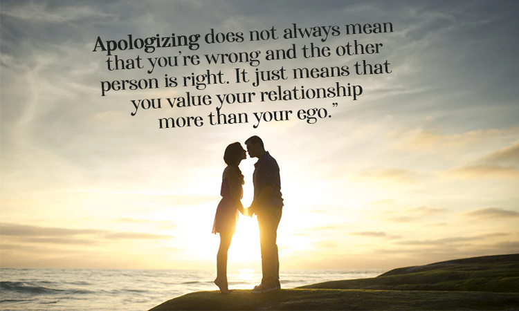 Apologizing Doesn't Mean