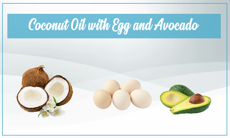 Coconut Oil With Egg And Avocado