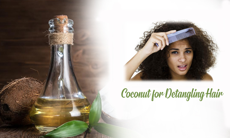 Coconut for De-tangling Hair