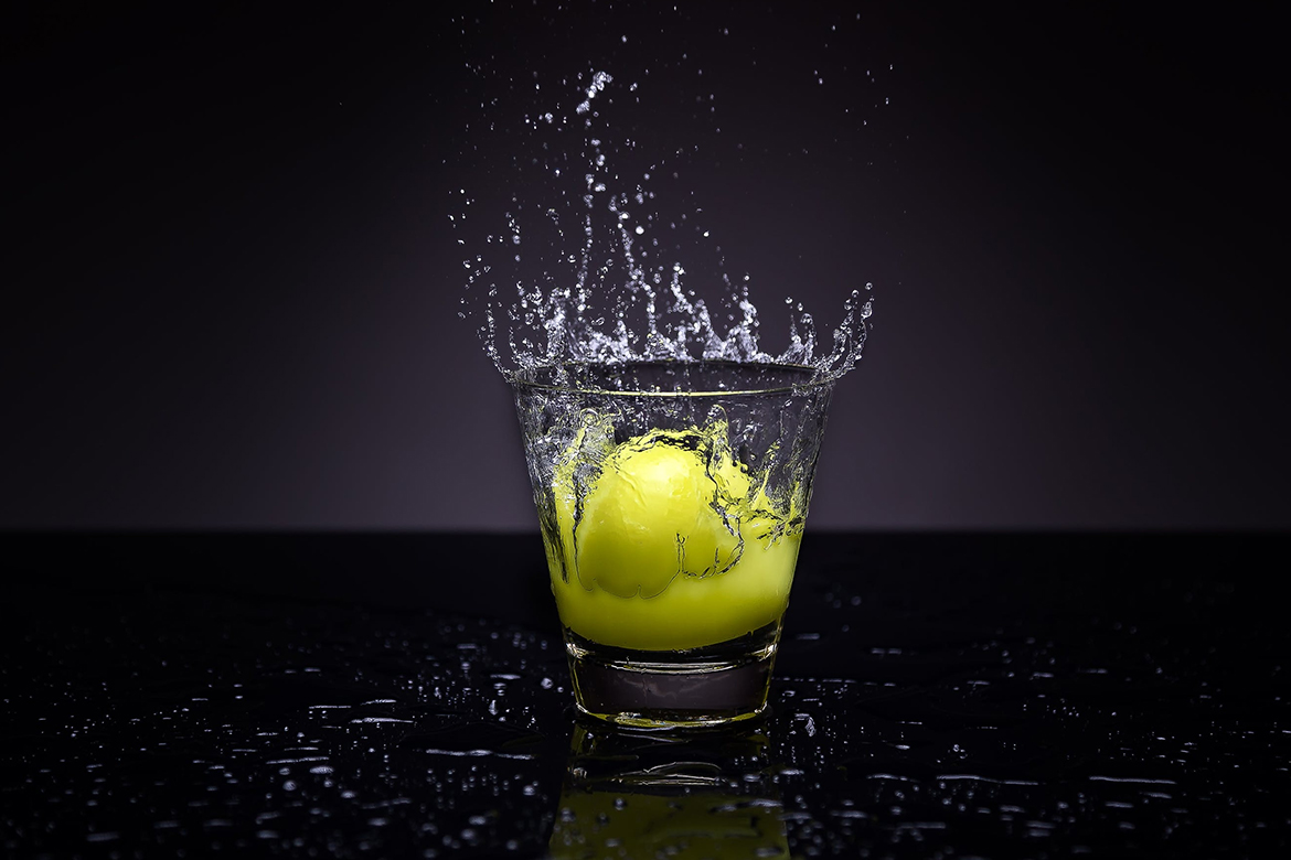 A Lemon In A Glass Of Water