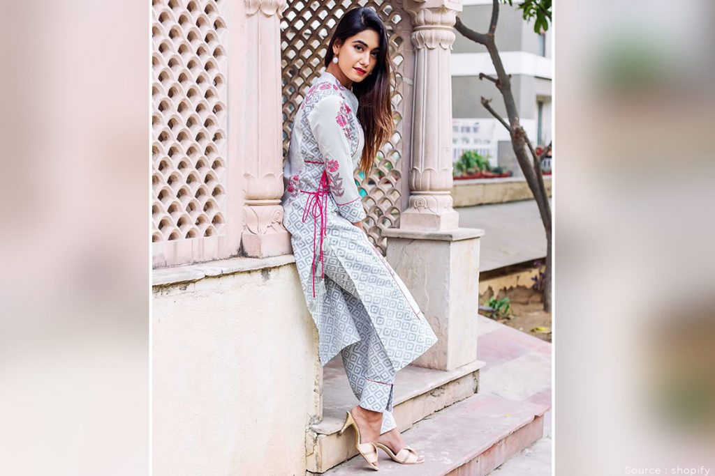pants with long kurti