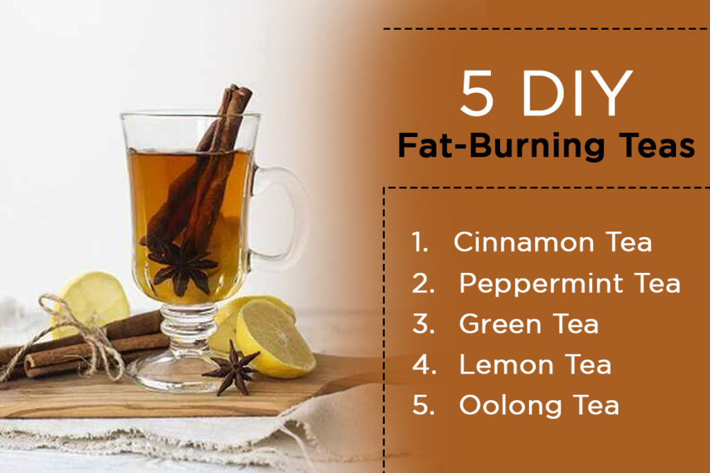 5 DIY ideas of fat burning tea - WomensByte
