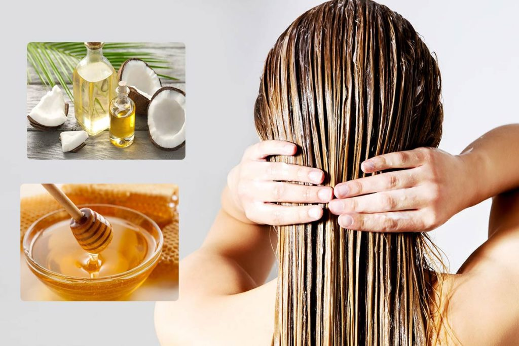 Steps To Make Hair mask from honey and Coconut Oil