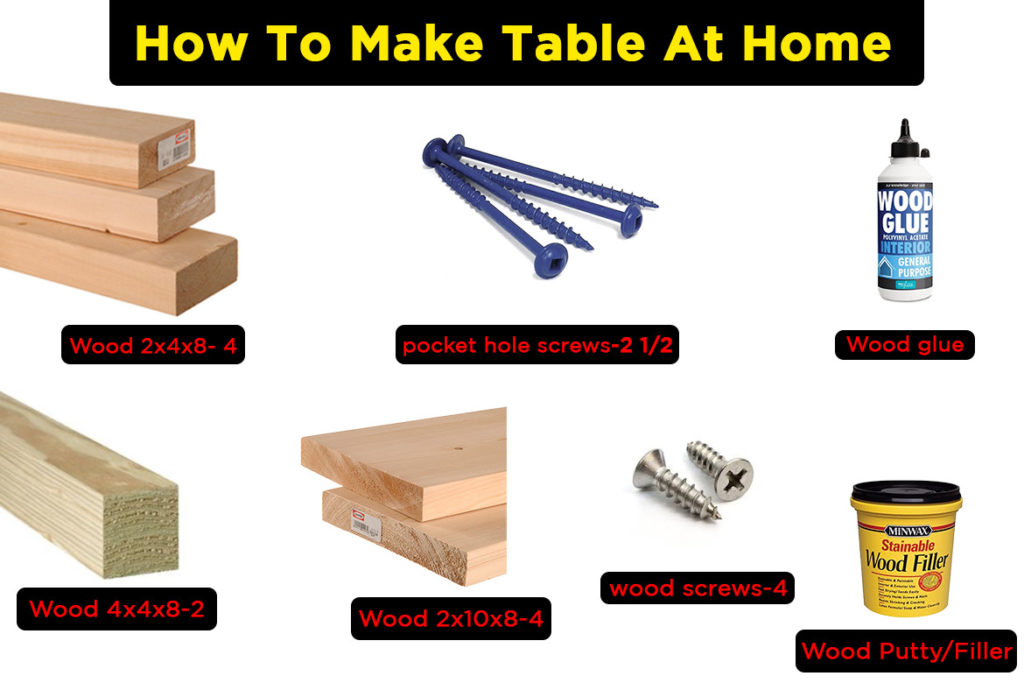 make table at your home