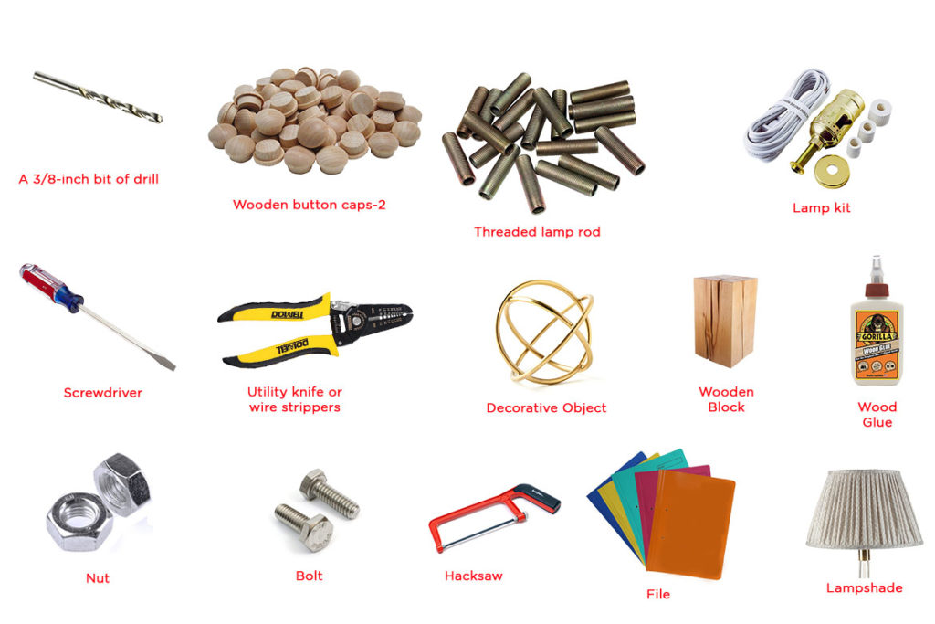 materials needed to make lamp at home - WomensByte