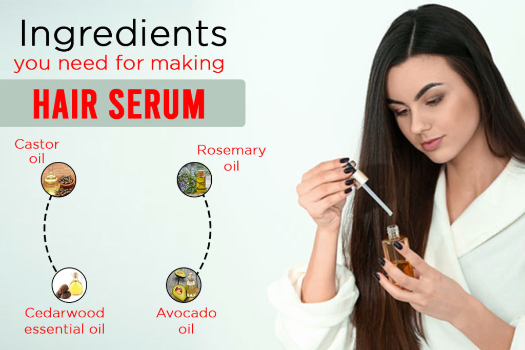 Ingredients you need for making a hair serum