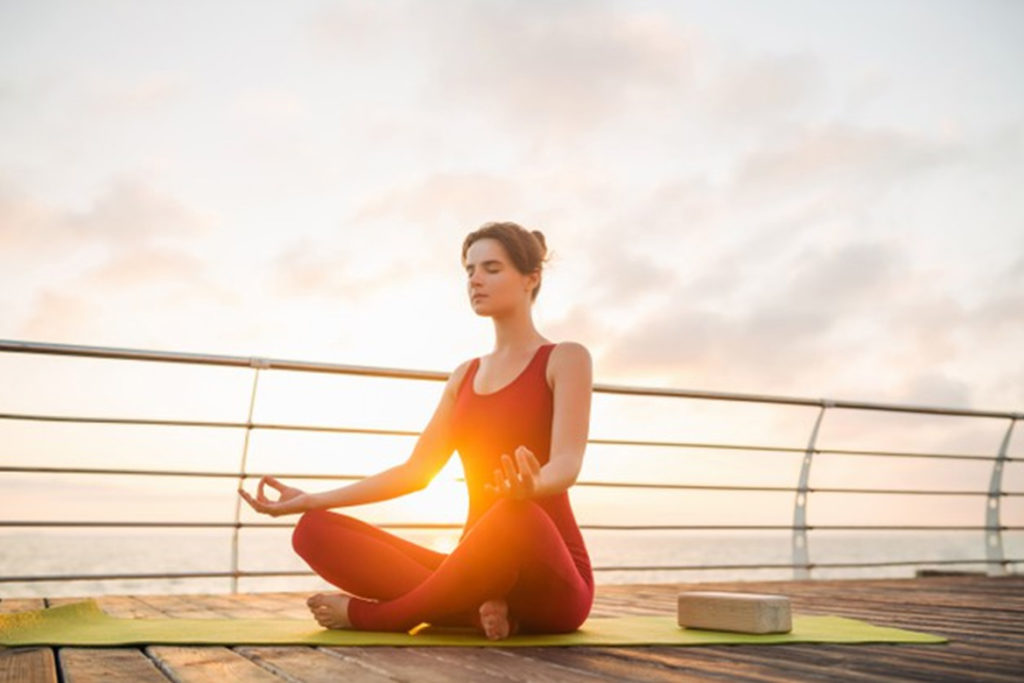 Think positively and get help with meditation
