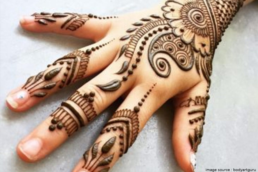 The desi mandalas with a glam touch