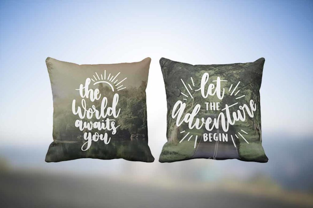 Travel Quote Pillow